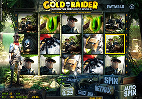 Gold Raider new slot at Spin and Win casino Goldra10