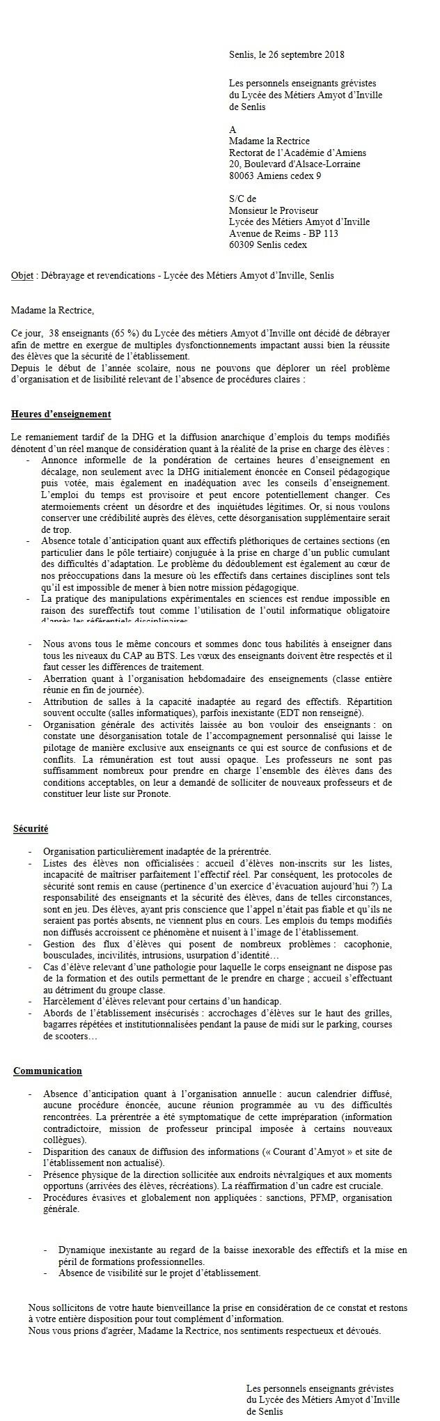Senlis / enseignants d'Amyot-d'Inville en grève en raison de leurs conditions de travail Sans_t10