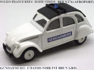 Miniatures Citroën et la Gendarmerie Solido10