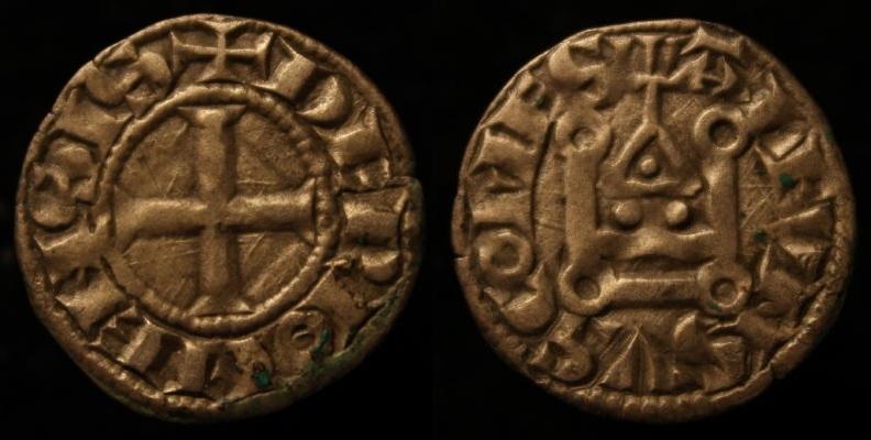 Denier de Riom (Auvergne) 00811