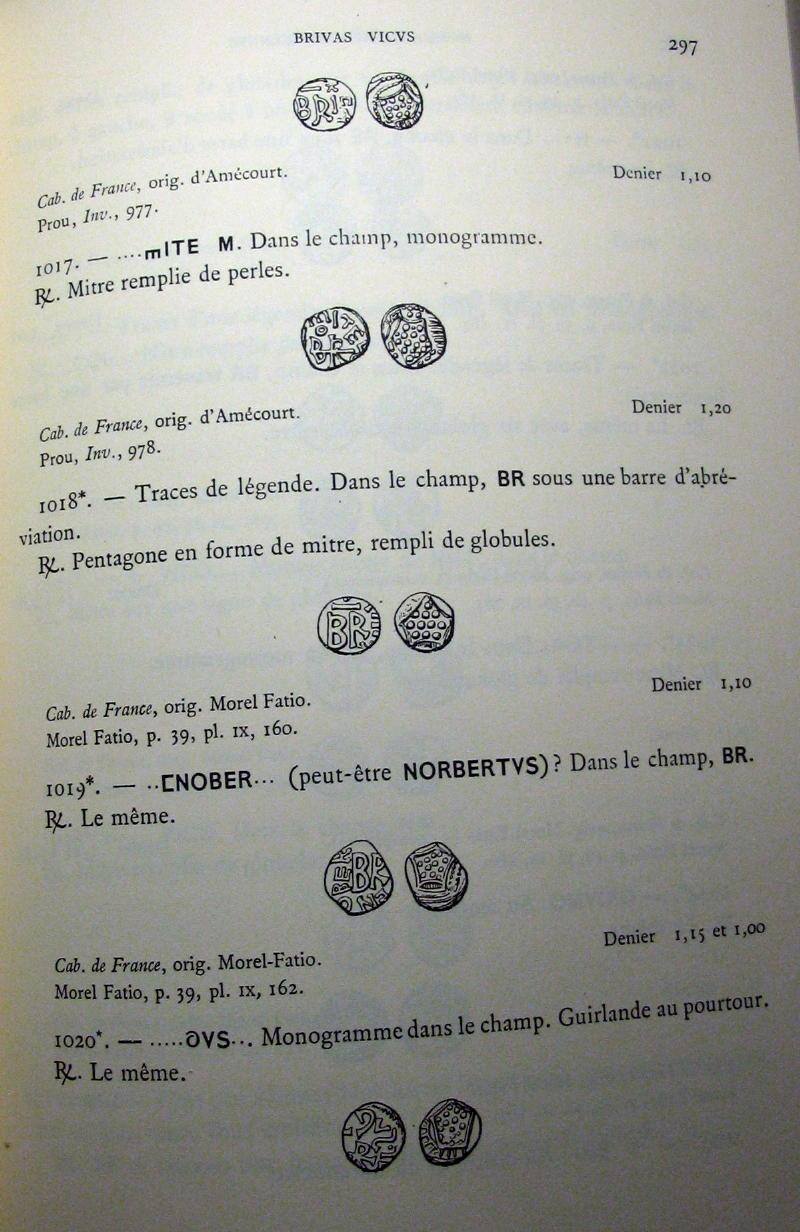 Denier mérovingien se rapprochant des deniers attribués à Brioude  01610