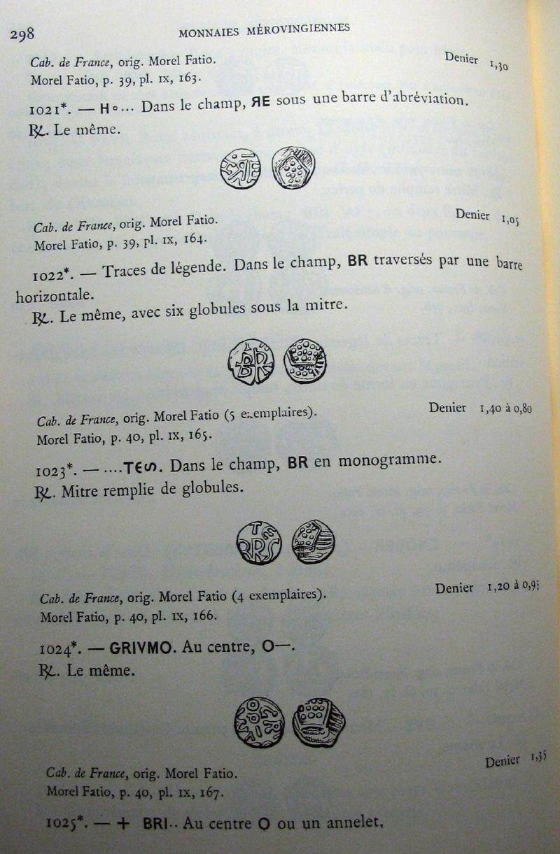 Denier mérovingien se rapprochant des deniers attribués à Brioude  01710