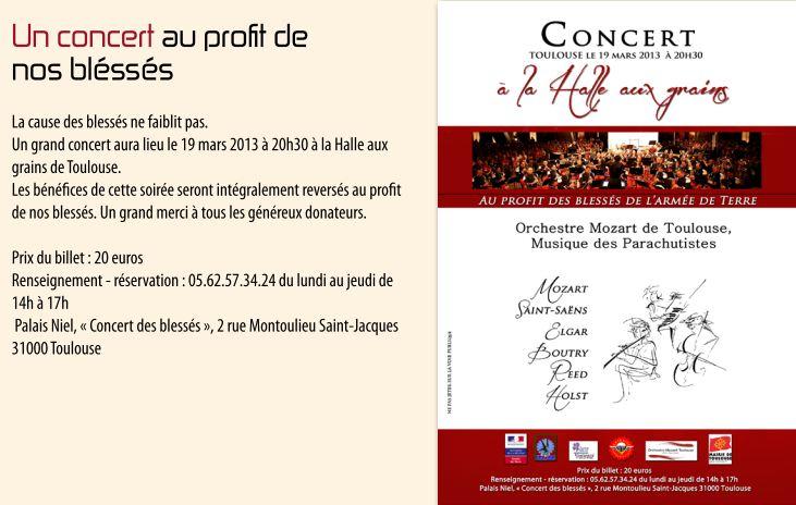 Au profit de nos blessés Concert le 19 mars 2013 à Toulouse Entre_12