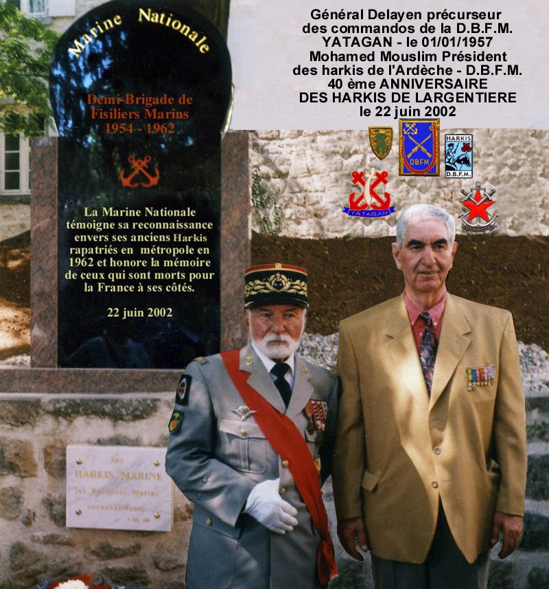 Le 23 juin 2012 Cinquantenaire des Harkis de la DBFM- Largentière 07 Harki10