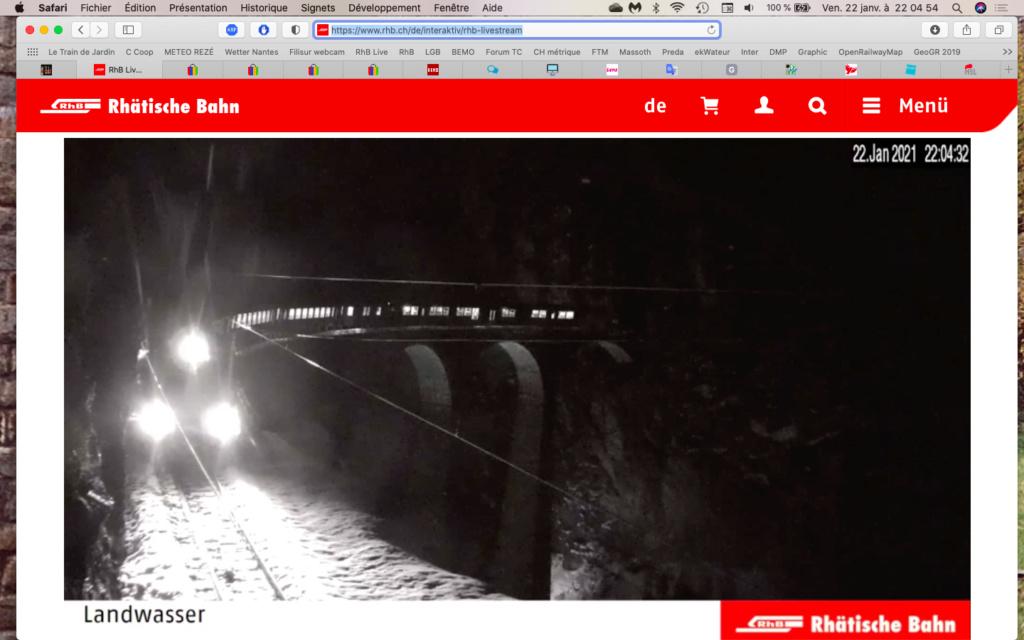 live stream surréaliste sur la Landwasser Captu113