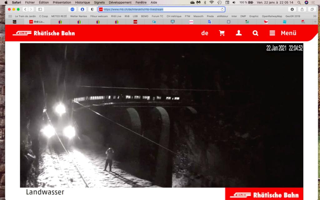 live stream surréaliste sur la Landwasser Captu114