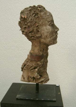 sculpture en terre et métal Hpim1311