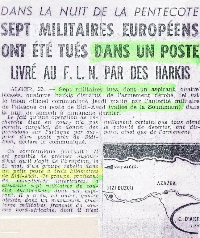 28ème à Sidi Aïch en 1961 Postev10