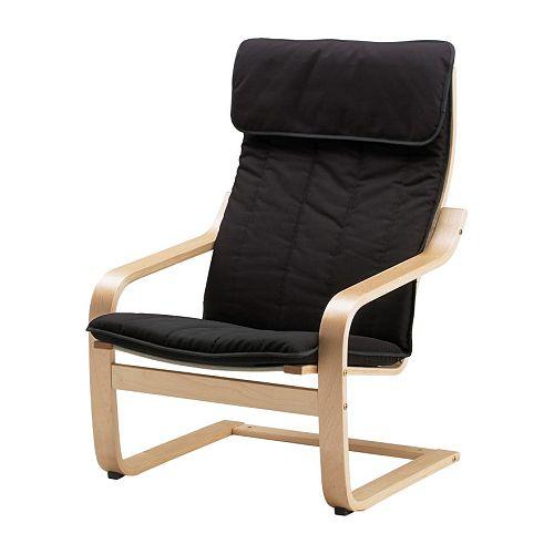 Donne fauteuil Ikéa Poang noir Poang-10