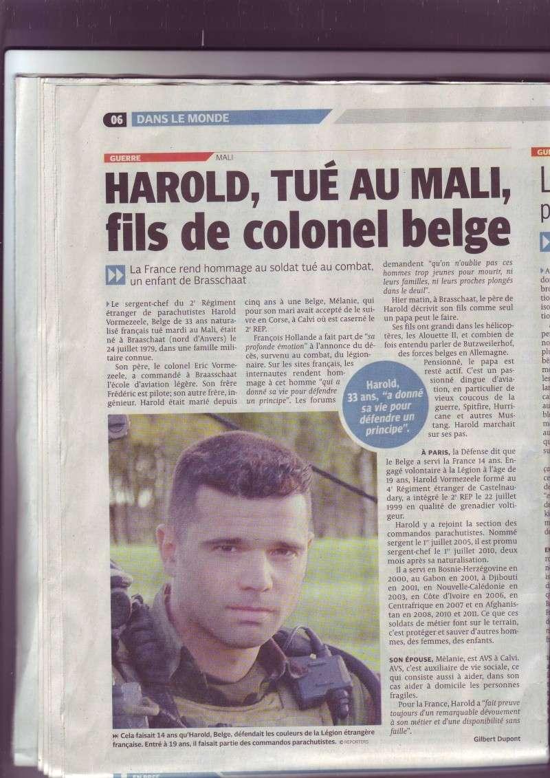 LE sergent chef Harold Vormezeele (  GCP ) du 2 REP  tués au mali  - Page 2 Image089