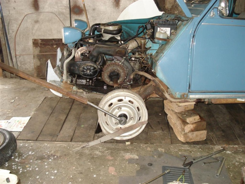 demontage tambour et reducteur 2cv_sa10