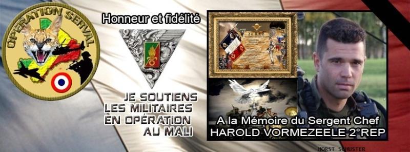 LE sergent chef Harold Vormezeele (  GCP ) du 2 REP  tués au mali  - Page 2 Soutie10