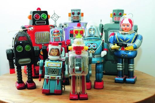 Robots jouets vintages - vintage robot toys France10