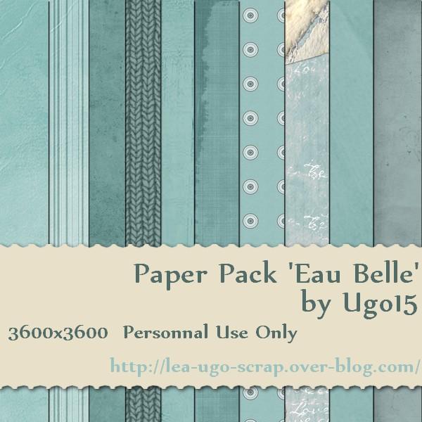Paper Pack 'Eau Belle' Ugo15_16