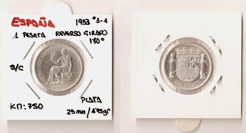 1 peseta de plata de la II República Española Espaaa17