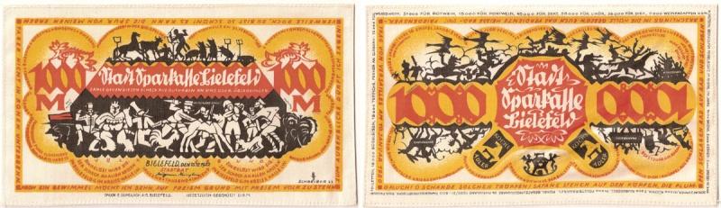Notgeld ciudad de Bielefeld (billetes de seda/lino) Notgel16