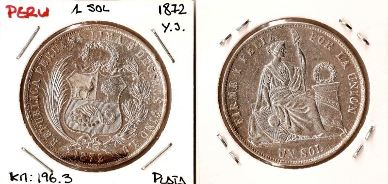 Perú, 1 sol, 1864. Peru_110