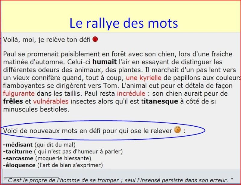 Des pistes pour un enseignement actif du vocabulaire Rallye10
