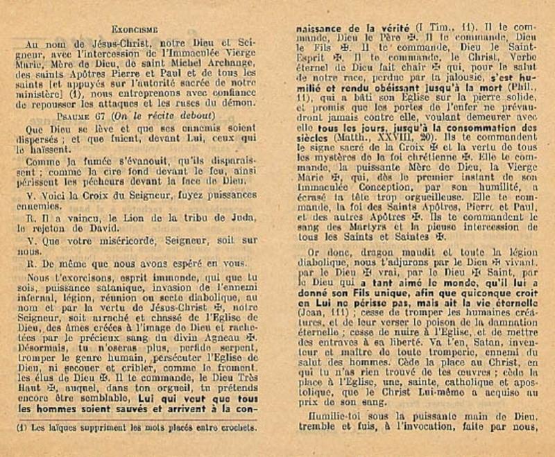 Exorcisme de Léon XIII. Exorci11