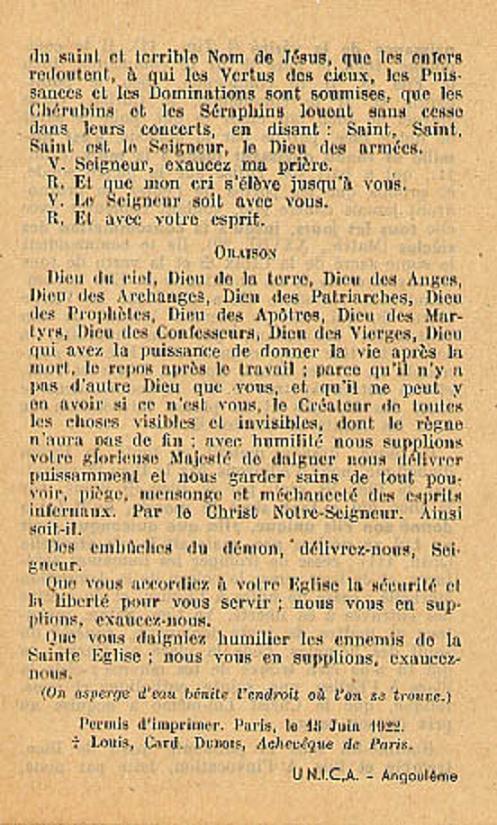Exorcisme de Léon XIII. Exorci12