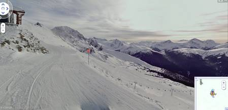Google Street View s'invite sur les pistes de ski Rtemag14
