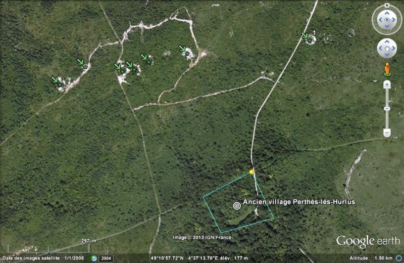 """Vestiges de la """"guerre des mines"""" (Première Guerre Mondiale) visibles dans Google Earth - Page 2 Ancien10"""