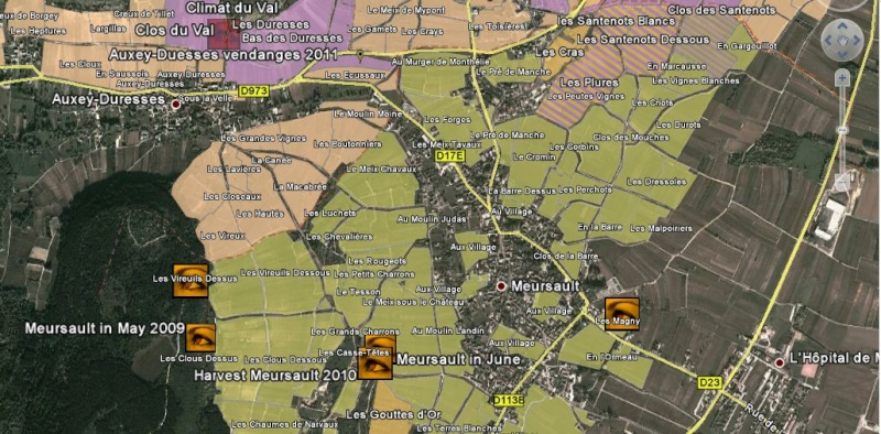 Overlay des Grands Crus de Bourgogne Captur61
