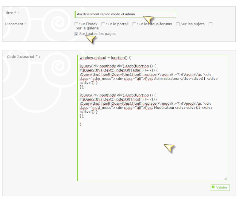 280 - Bouton avertissement rapide admin et modo non visible  Java10