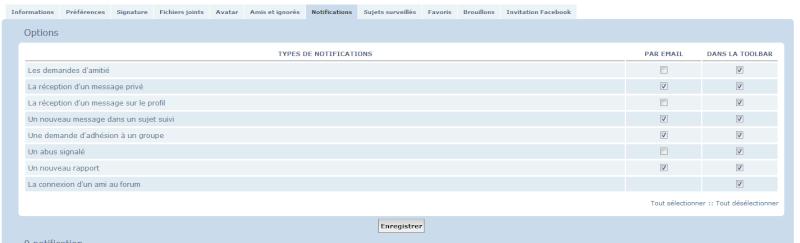 Nouvelle fonctionnalité : Choix entre mails et/ou notifications Tuto10