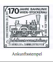 Sonderpostbeförderung von Wien nach Stockerau B210