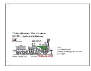 Sonderpostbeförderung von Wien nach Stockerau B310