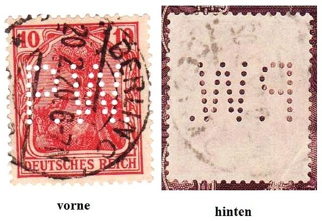 Briefmarke 10 Pfennig Germania mit Besonderheit Briefm11