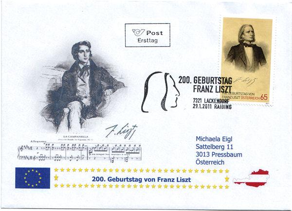 Selbst kreirte Belege/ Sonderstempel / Ersttage Liszt10