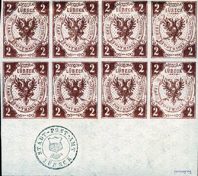 Seit 150 Jahren gibt es Briefmarken in Lübeck Marken10