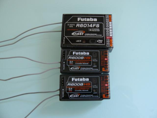 Recepteurs Futaba R6014FS et R6008HS P1320913