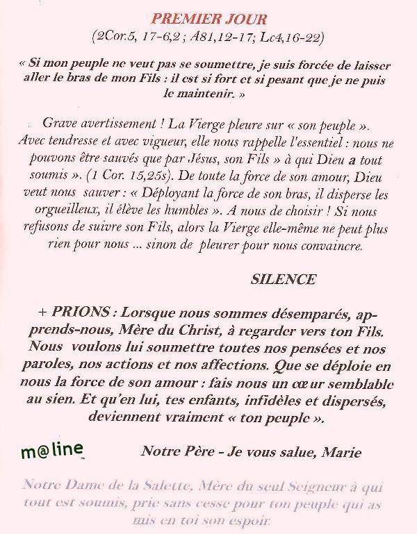 Neuvaine et chapelet à Notre Dame de la Salette du 11 au 19 septembre Copie_11
