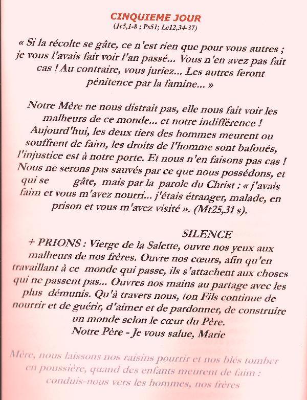 Neuvaine et chapelet à Notre Dame de la Salette du 11 au 19 septembre Salett14