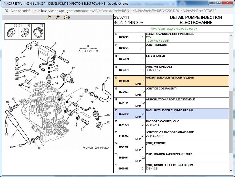 405 TurboD 1994 Signature - Cable d'accélération/Pompe à Injection : Absence amortisseur Sans_t11