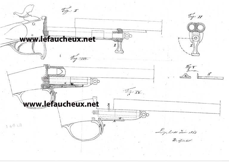 petite carabine Gaubert signée Lefaucheux 216