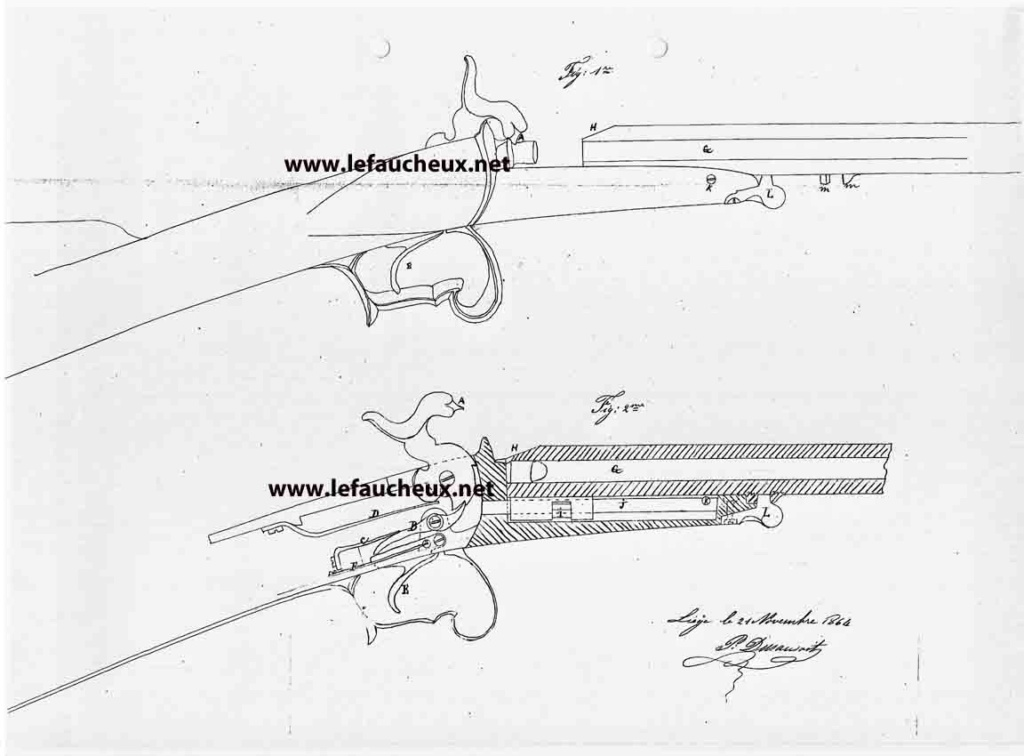 petite carabine Gaubert signée Lefaucheux 313