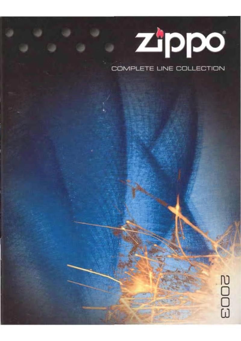 Catalogue ZIPPO 2003 Complete line (version américaine) 0011