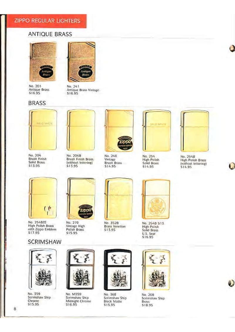 Catalogue ZIPPO Collection 1995 (version américaine) 1016