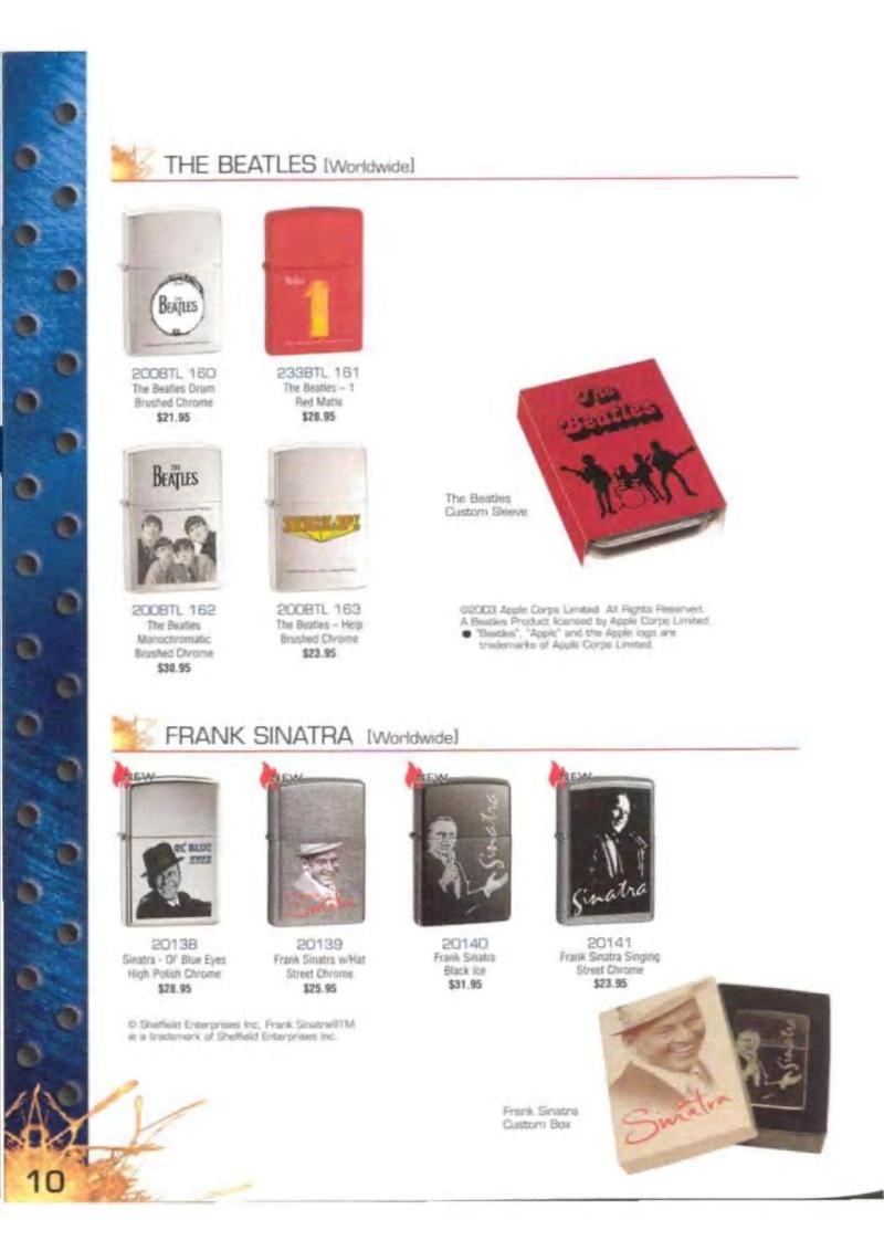 Catalogue ZIPPO 2003 Complete line (version américaine) 1021