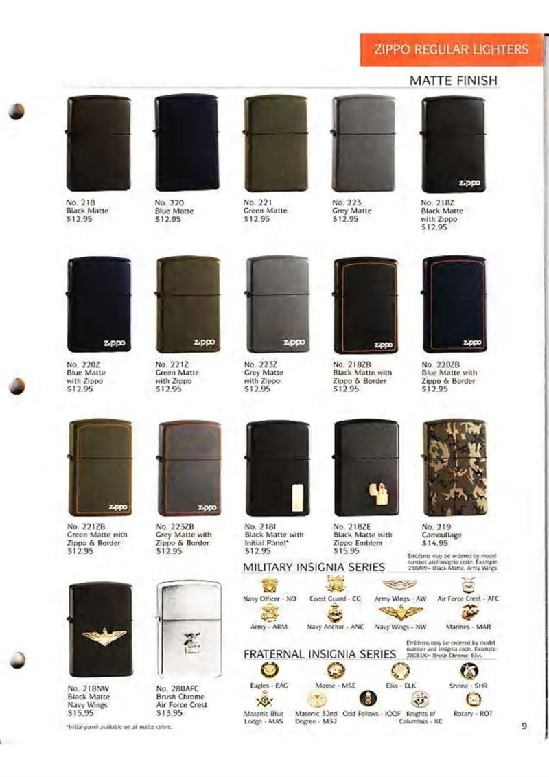 Catalogue ZIPPO Collection 1995 (version américaine) 1114