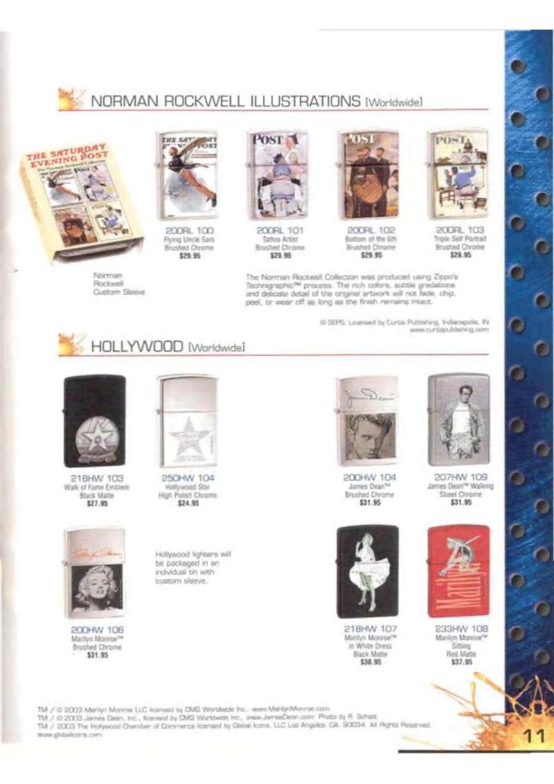 Catalogue ZIPPO 2003 Complete line (version américaine) 1119
