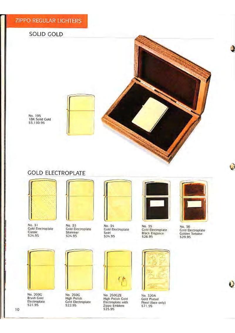 Catalogue ZIPPO Collection 1995 (version américaine) 1214