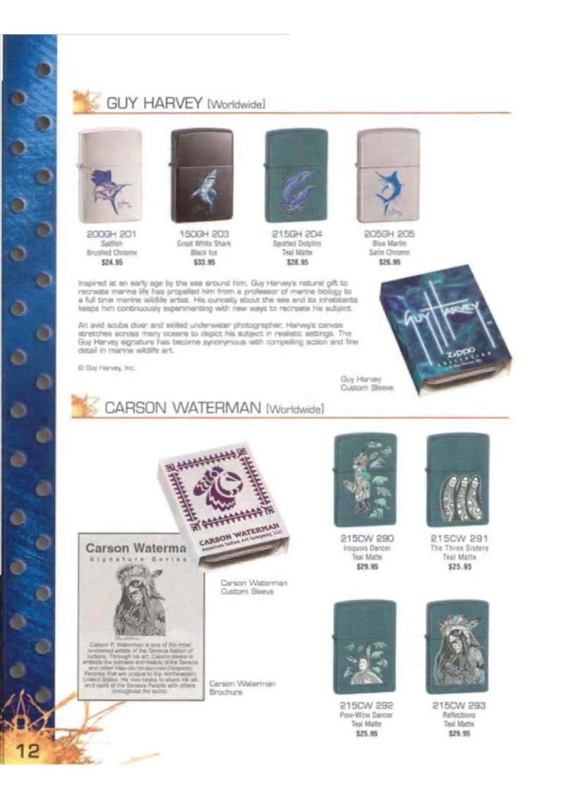 Catalogue ZIPPO 2003 Complete line (version américaine) 1219