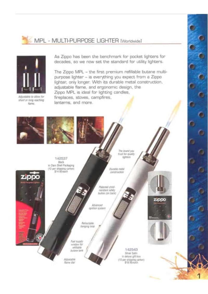 Catalogue ZIPPO 2003 Complete line (version américaine) 123