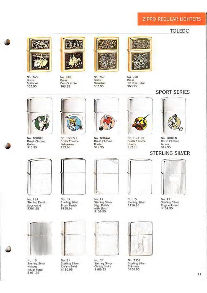 Catalogue ZIPPO Collection 1995 (version américaine) 1312