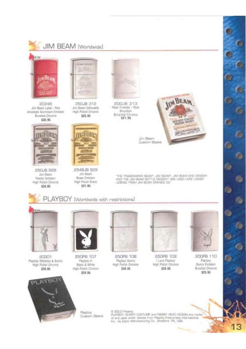 Catalogue ZIPPO 2003 Complete line (version américaine) 1317